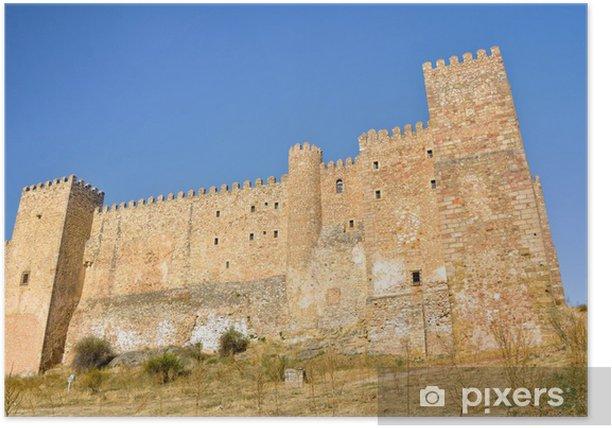 Plakat Siguenza Castle, obecnie krajowy Parador (Hiszpania) - Europa
