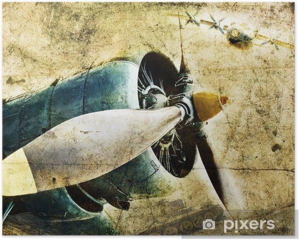 Plakat Silnik lotniczy Grunge - iStaging