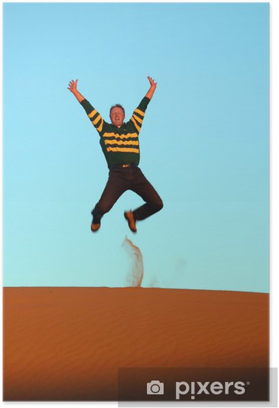 Plakat Skakać na pustyni - Afryka