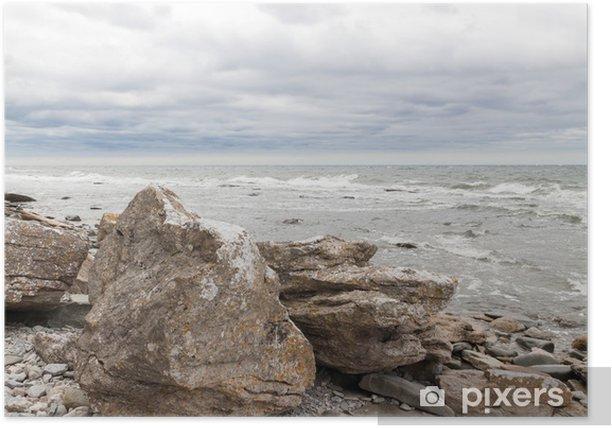 Plakat Skaliste wybrzeża Gotlandii, Szwecja - Europa
