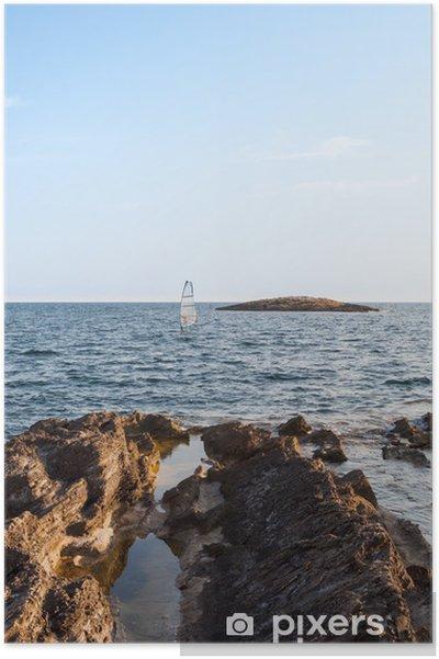 Plakat Skały nad morzem - Wakacje