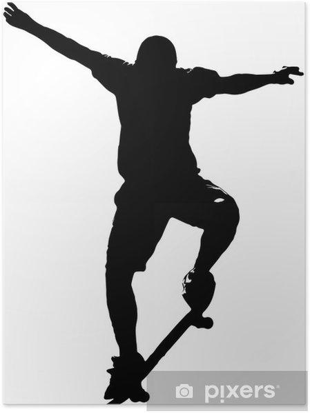 Plakat Skater 01 - Naklejki na ścianę