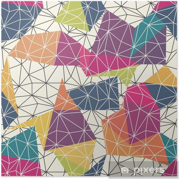 Plakát Skeletové Abstrakt Surface bezešvé vzor - Grafika