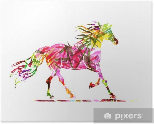 Plakat Sketch jazda z kwiatowym ornamentem dla swojego projektu. Symbol - Tematy