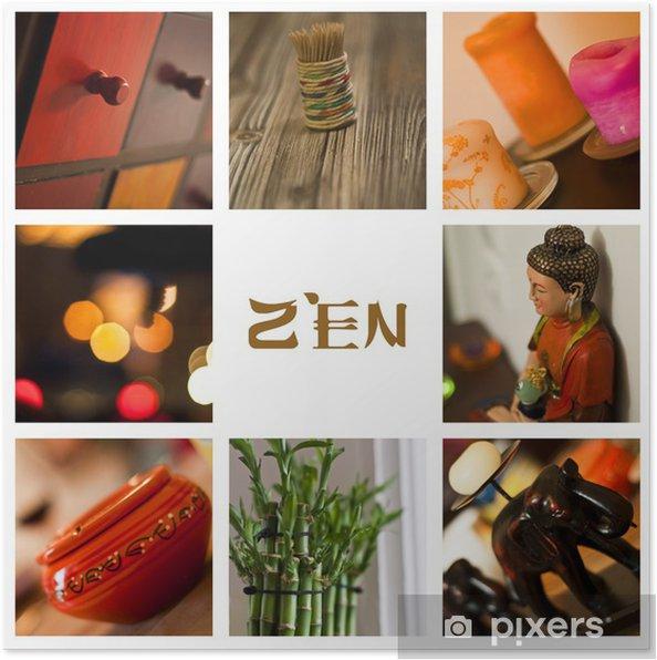Plakat Skład dekoracji zen 2013 - Tła