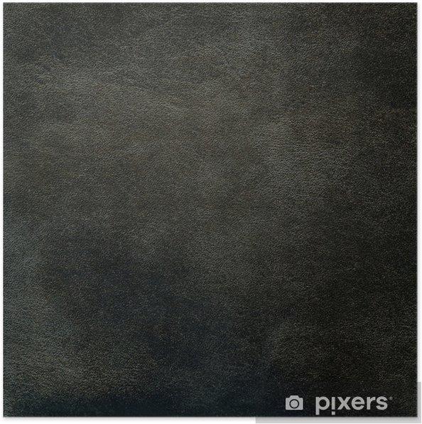 Plakat Skórzane czarne tekstury - Akcesoria