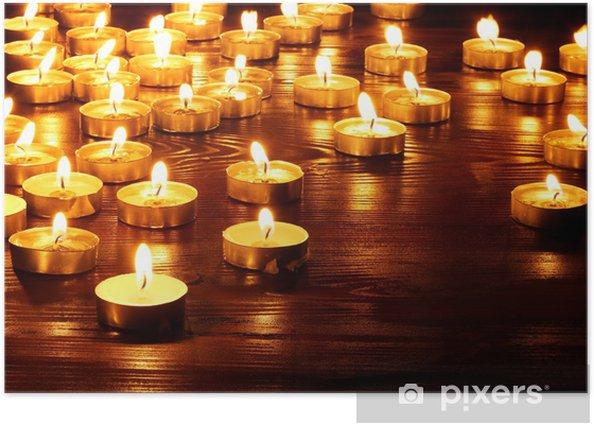 Plakát Skupina svíčky na černém pozadí. - Národní svátky