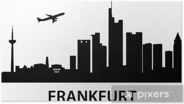 Plakát Skyline Frankfurt - Evropa