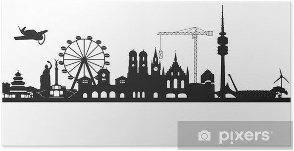 Plakat Skyline monachium - Hobby i rozrywka