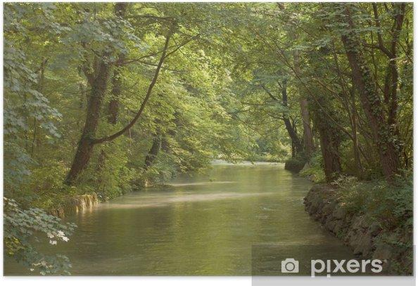 Plakat Słabe oświetlenie nad Potokiem Drzewnego i - Pory roku