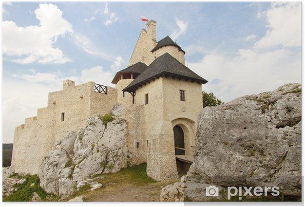 Plakat śląsku Bobolice Zamek