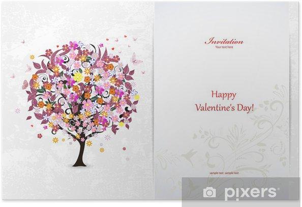 Plakát Slavnostní pozvání karta s abstraktní strom - Slavnosti