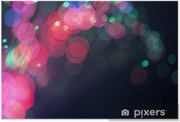 Plakát Slavnostní světla a kruhy. Vánoční pozadí - Mezinárodní svátky