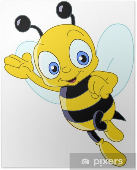 Plakat Śliczne bee - Naklejki na ścianę