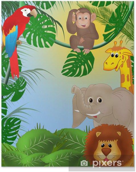 Plakat Śliczne tle dżungli - iStaging