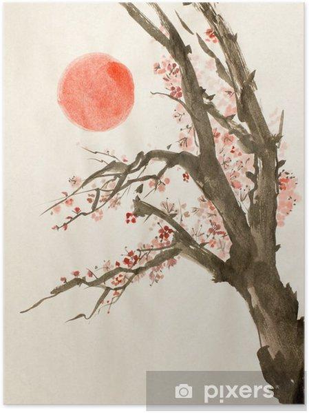 Plakat Śliwa czerwone słońce - Rośliny i kwiaty