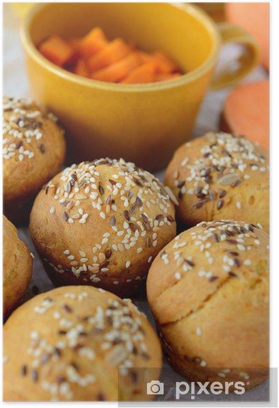 Plakat Słodkie ziemniaki (ziemniak) bułki - Tematy