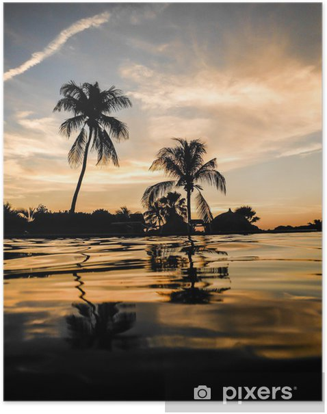 Plakat Słońce nad morzem Curacao - Wakacje