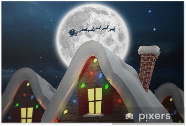 Plakát Složený obraz roztomilé vánoční obce - Mezinárodní svátky