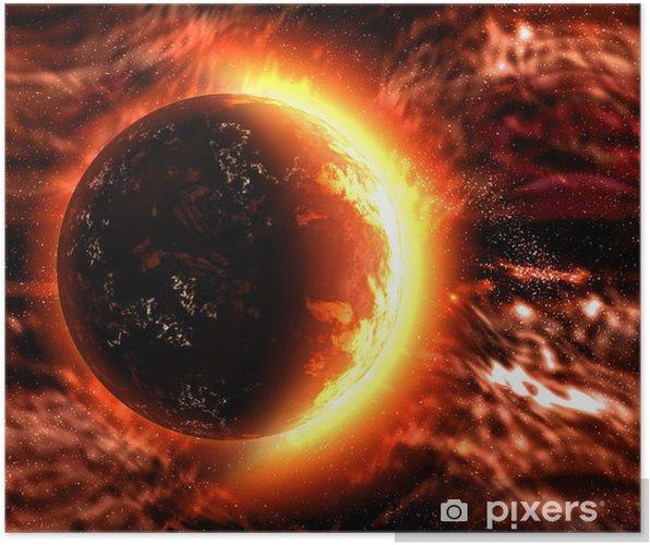 Plakát Slunce nebo pálení planety - Nebe