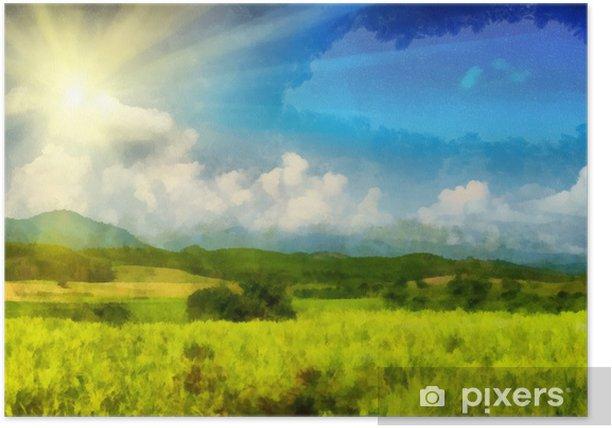 Plakát Slunný pole - Pozadí