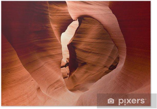 Plakat Słynny Antelope Canyon w Arizonie, USA - Cuda natury