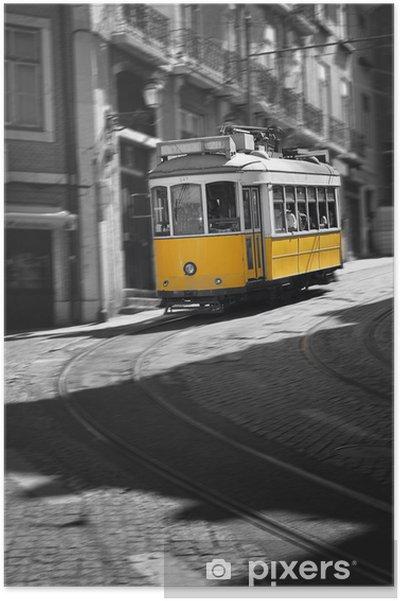Plakat Słynny tramwaj nr 28 w Lizbonie - Miasta europejskie