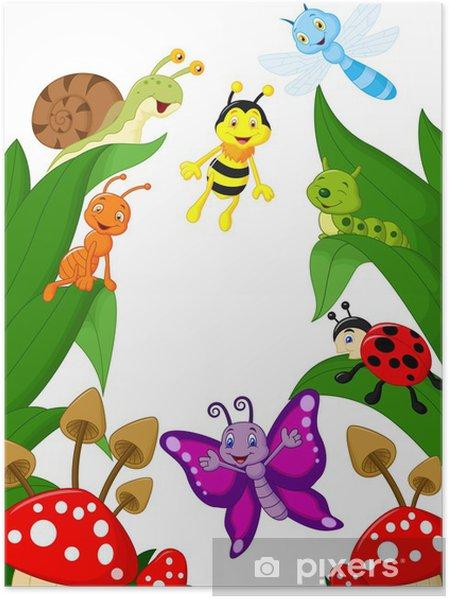 Plakat Small animals cartoon - Inne Inne