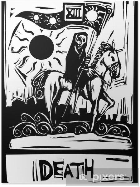 Plakat Smierc Kart Tarota Pixers Zyjemy By Zmieniac