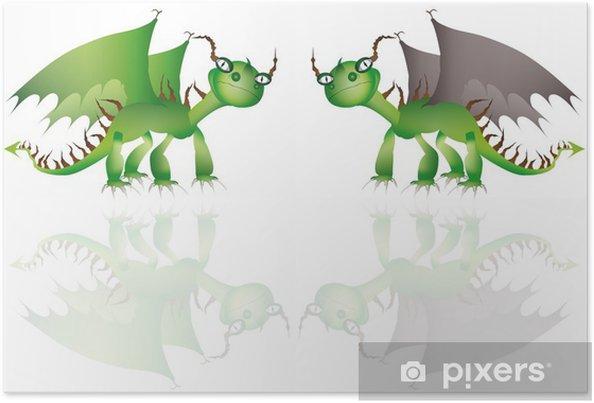 Plakát Smok - Imaginární zvířata