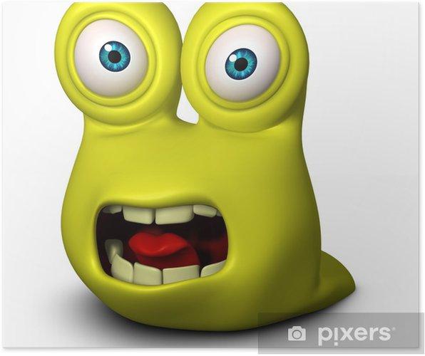 Plakat Smutne potwór - Mikroskopijny świat