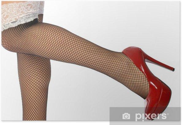 Plakát Smyslné nohy v síťované punčochy - Témata