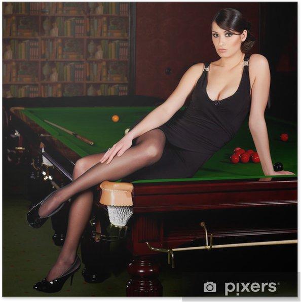 Plakát Snooker dívka - Zábava