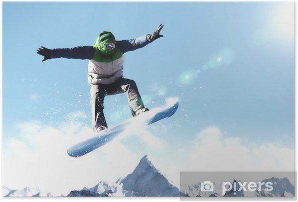 Plakát Snowboarding - Muži
