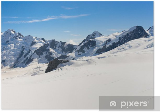 Plakat Snowy góry - Himalaje