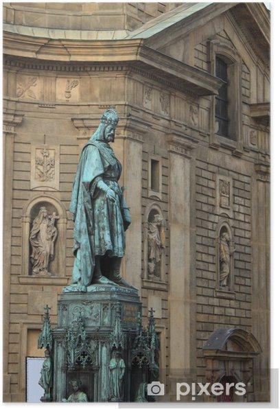 Plakát Socha krále Karla IV v Praze, Česká republika - Evropská města