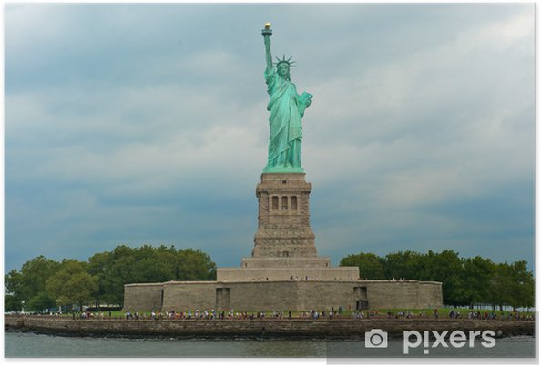 Plakát Socha svobody Národní památník - Americká města