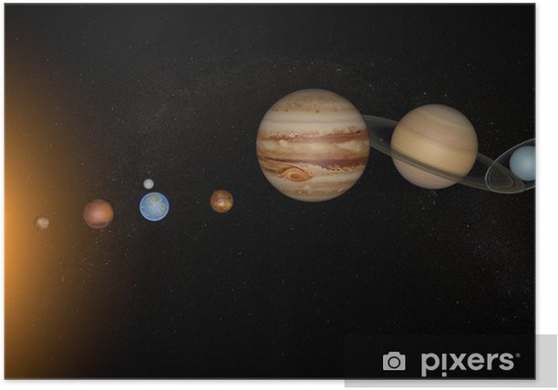 Plakát Solární systém planety vesmírných vesmír slunce - Planety