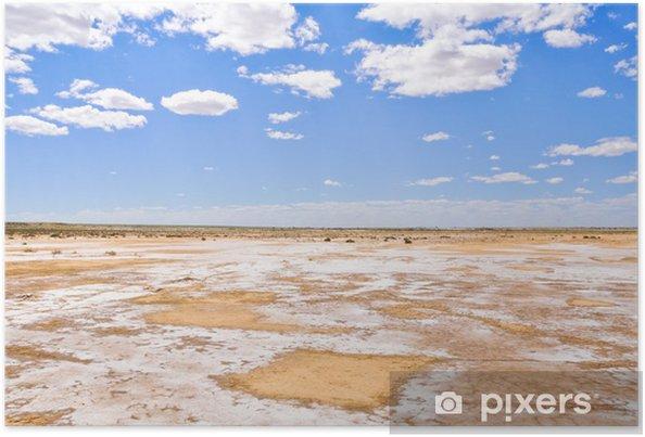 Plakát Solná poušť u jezera Eyre jihu (Austrálie) - Oceánie