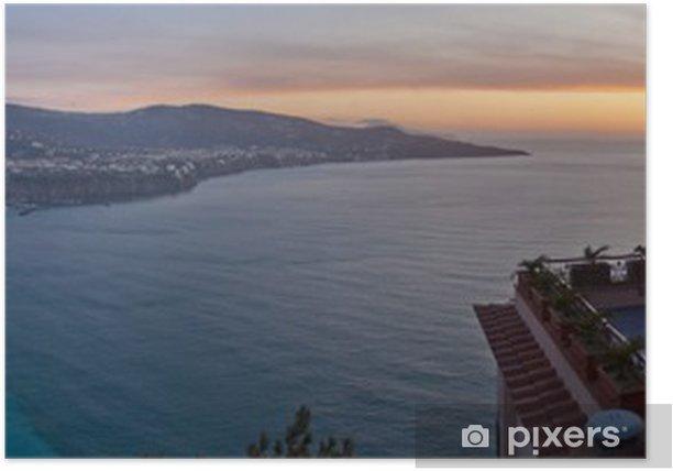 Plakat Sorrento i morze o zachodzie słońca (wide) - Woda