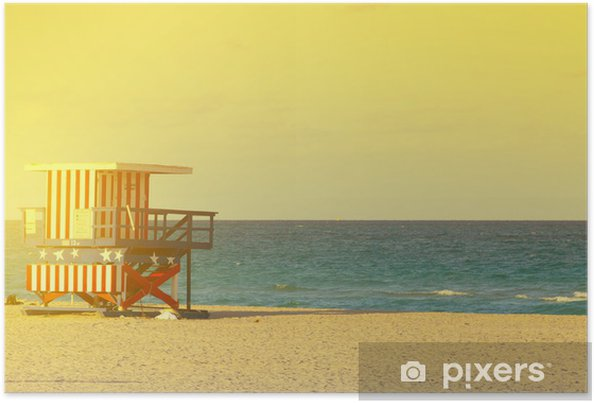 Plakát South beach - Prázdniny