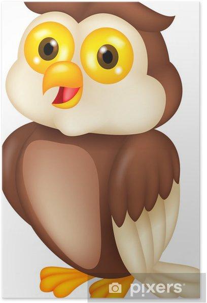 Plakat Sowa kreskówek - Ptaki