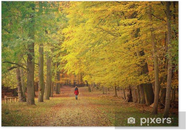 Plakat Spacery w parku jesienią - Tematy