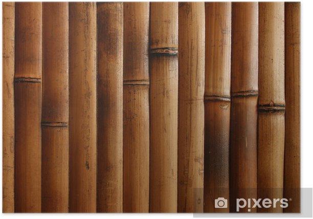 Plakat Spalił bamboo - Miasta azjatyckie