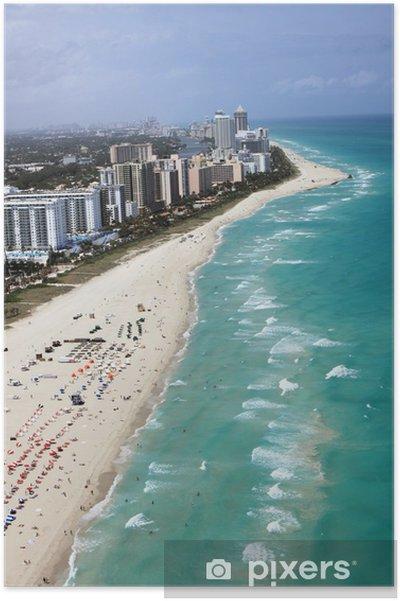 Plakát Spiaggia di Miami - Amerika