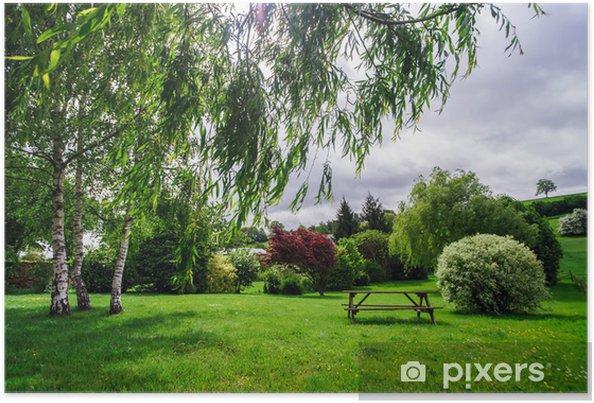 Plakat Spokojny krajobraz wiejski - Tematy