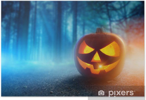 Plakat Spooky Halloween - Święta międzynarodowe