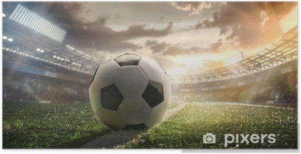 Plakat Sport Piłka Nożna Na Stadionie Plakat Piłkarski