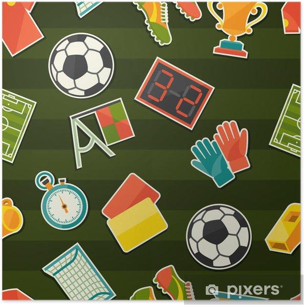 Plakat Sport Szwu Z Piłki Nożnej Piłka Nożna Naklejek