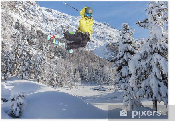 Plakat Sporty Zimowe - Narciarstwo